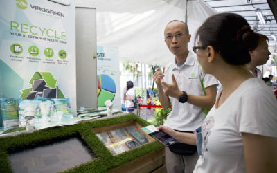 DPM Teo Chee Hean and Minister Ng Chee Meng visits Virogreen E-waste exhibition