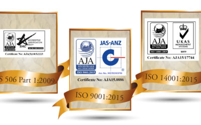Virogreen (S) awarded ISO 14001, ISO 9001 & SS 506 Certifications